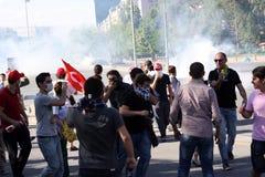 土耳其抗议在安卡拉 图库摄影