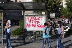 土耳其抗议在安卡拉 库存照片