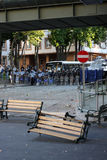 土耳其抗议在安卡拉 库存图片