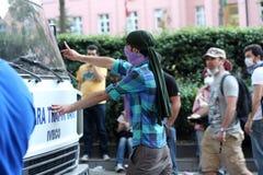 土耳其抗议在安卡拉 免版税库存照片