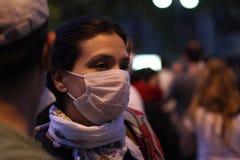 土耳其抗议在安卡拉 免版税库存图片