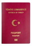 土耳其护照盖子-裁减路线 库存图片