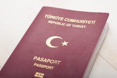 土耳其护照细节 库存图片