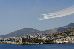 土耳其担任主角NF5和城堡 库存照片