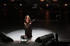 土耳其摇滚明星Sebnem Ferah生活表演 免版税库存图片