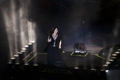 土耳其摇滚明星Sebnem Ferah生活表演 免版税图库摄影