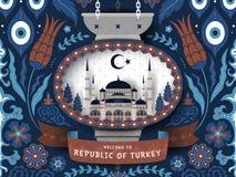 土耳其旅行海报 库存例证