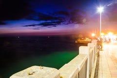 土耳其暑假镇在晚上 库存照片