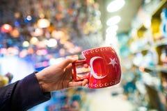 土耳其杯子盛大义卖市场 库存照片