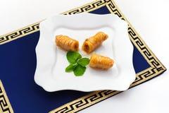土耳其果仁蜜酥饼,也知名当中东甜点 免版税库存照片