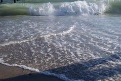 土耳其海白色沙子和蓝色wate的休息国家 库存照片