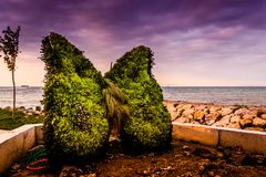 土耳其海边镇的环境 免版税库存照片