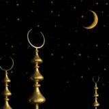 土耳其清真寺的甲晕标志 免版税图库摄影