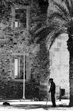 土耳其清真寺的Lerapetra老人 库存照片