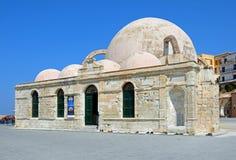 土耳其清真寺,干尼亚州 免版税库存照片