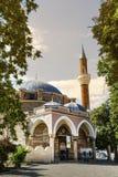 土耳其清真寺Banya Bashi清真寺在市的中心索非亚,保加利亚 库存照片
