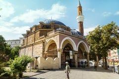 土耳其清真寺Banya Bashi清真寺在市的中心索非亚,保加利亚 图库摄影