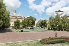 土耳其清真寺Banya Bashi清真寺在市的中心索非亚,保加利亚 库存图片