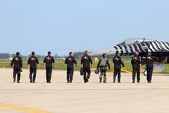 土耳其演示F-16 免版税库存照片