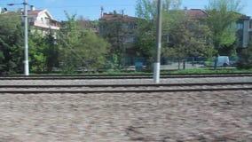 土耳其火车跟踪看法,绿色landspace, 2016年 影视素材