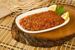 土耳其热的蕃茄开胃菜 免版税库存照片