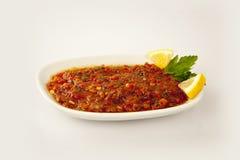 土耳其热的蕃茄开胃菜 免版税库存图片
