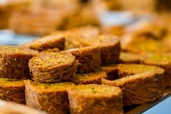 土耳其甜果仁蜜酥饼 免版税库存图片