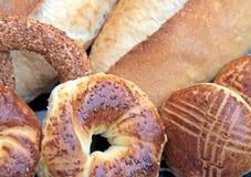 土耳其百吉卷和面包 图库摄影