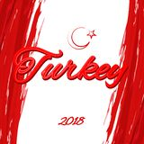 土耳其的土耳其旗子题材题字以土耳其月牙和星传染媒介为背景国旗的  向量例证