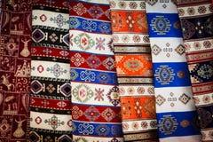 从土耳其的地毯织品 库存照片