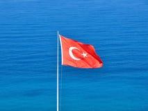 土耳其的旗子 免版税库存照片