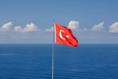 土耳其的旗子 库存图片