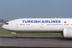 土耳其的航空公司 免版税库存图片