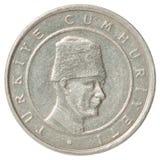 土耳其硬币 库存照片