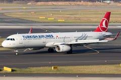 土耳其航空空中客车A321班机 免版税库存图片