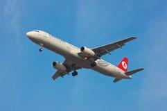 土耳其航空空中客车A321 库存照片