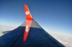 土耳其航空翼 库存图片
