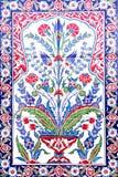 土耳其艺术性的墙壁瓦片 免版税库存图片