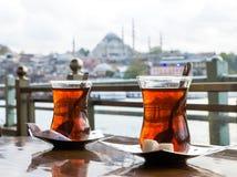 土耳其茶杯 库存图片