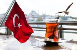 土耳其茶杯 免版税图库摄影