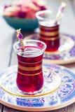 土耳其茶 库存照片