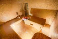 土耳其蒸汽浴, hammam内部在温泉中心 免版税库存图片