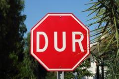 土耳其语停车牌 图库摄影