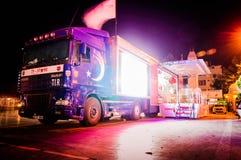 土耳其语担任主角促进卡车 库存图片