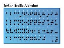 土耳其语盲人识字系统字母表 库存照片