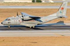 95-101土耳其语空军队,住处CN-235M-100 图库摄影