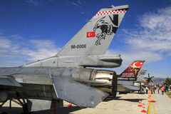 土耳其语空军队F-16 图库摄影
