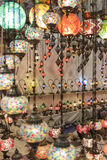 土耳其语色的灯 免版税库存照片