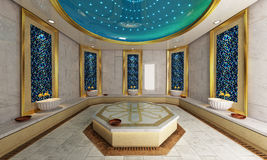 土耳其语Hamam,浴现代设计 库存图片