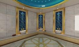 土耳其语Hamam,浴现代设计 库存照片
